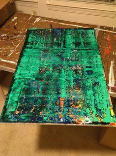 24x30 Modern Abstract Acrylic.