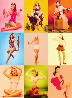Pin-ups by SparkleGirlJen, via Flickr