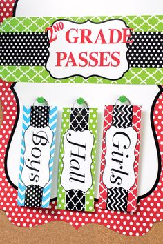 Passes for toilets, office, errands. Write name on whiteboard underneath tag and rub off when come back. Classroom Organisation, Classroom Setup, School Organization, Future Classroom, School Classroom, School Fun, Classroom Management, Teaching Activities, Teaching Tools
