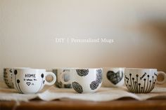 Don't Mind if I Do: DIY: Personalized Mugs (aka Sharpie Mugs) - Love this tutorial, as well as her style.