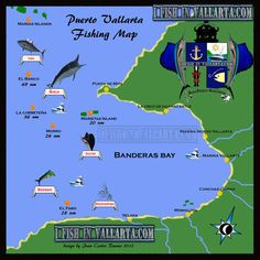 Puerto vallarta old town map favorite places spaces for Nuevo vallarta fishing