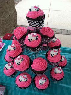 Cupcakes for Skyler's 2nd birthday!  #hellokitty #pinkcupcakes #yummy
