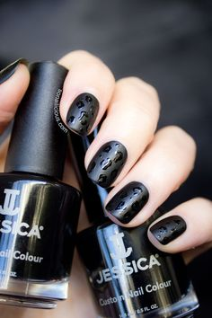 Black matte nails. Click for more info about manicure. #black #matte #nails