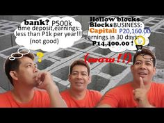 Hollow blocks making is one of the fastest growing business and with very high profitability of almost. Initial Capital, Construction Business, 30 Day, Youtube, Youtubers, Youtube Movies