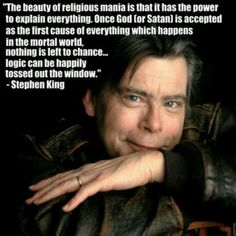Stephen King #quote #atheism