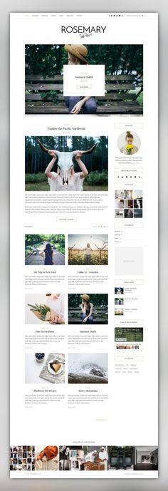 Rosemary - A Responsive WordPress Blog Theme blog, blogger, classic, clean, creative, elegant, fashion, food, instagram, lifestyle, music, personal, responsive, simple, slider Version 1.2.1 is out now! Rosemary is a light & bright blog theme, tailored to showcase your content in an effortlessly timeless style. Boasting popular features such as a full-width Instagram footer area, a showstopping featured area slider, and an abundanc...