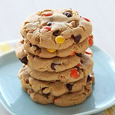 Giant Reese's Pieces Chocolate Chip Cookies - you HAVE to make these!