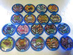 Yo-kai Watch Lot 18 Medals Holo Blue Soultimate Moves Medal JAPAN Version Yokai  #BANDAIJAPAN
