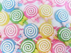 8x Cute Lollipop Cabochons by CuteCornwall on Etsy, £2.00