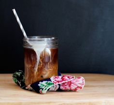 """Apparently mason jars are the """"little black dress"""" of iced coffee."""