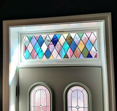 Items similar to Sophisticated Diamonds-Stained Glass Transom Window on Etsy Stained Glass Paint, Stained Glass Designs, Stained Glass Projects, Stained Glass Windows, Metal Windows, Stained Glass Studio, Mosaic Glass, Glass Art, Mosaic Mirrors