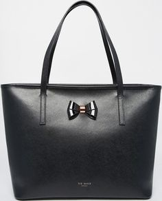 •Website: http://www.cuteandstylishbags.com/portfolio/ted-baker-london-black-leather-bow-detail-crosshatch-shopper/ •Bag: Ted Baker London Black Leather Bow Detail Crosshatch Shopper
