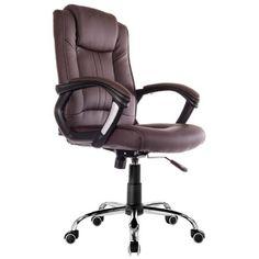 [e-cadeiras] - Cadeira Presidente Amsterdam Marrom - PRAMMA-0616 - R$ 429