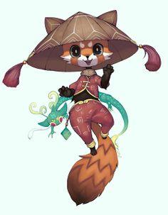 레서팬더 Animal Drawings, Cool Drawings, Drawing Sketches, Drawing Stuff, Character Inspiration, Character Art, Character Design, Special Characters, Fantasy Characters