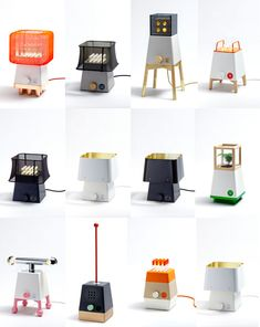 Craft System is a modular light series that consists of a common base unit and various attachments to customize the lamp. So cute! I want them all.