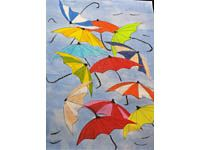 Schmuddelwetter - farbenfrohe Regenschirmparade - Startpunkt DE