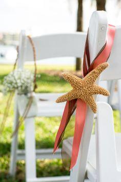 Brown & Coral Seaside Rustic Clearwater Beach Wedding - Ashfall Mixed Media