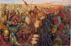 republican romans assaulting a ligurian stronghold