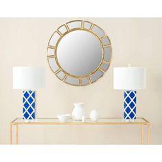 Safavieh Deco Sunburst Mirror, Antique Gold