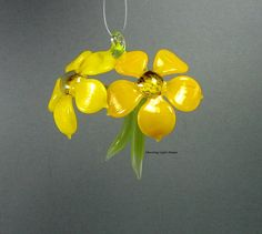 Sunshine Daisies  Lampwork Glass Flower by MorningLightGlass