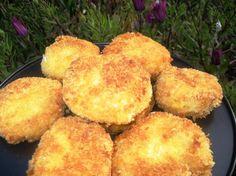 Basic korroke recipe: mashed potatos and whatever veggies/meat you want in it.. Coat in flour, egg, then panko.