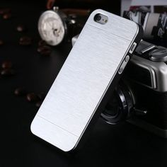 High Quality !! New Luxury Aluminum Metal Brush Case For iphone 5 5S 5G Hard Phone Back Cover Motomo Logo SGS03883