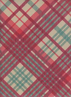 Tartan Wallpaper Vivienne Westwood designed tartan wallpaper in taupe green and red