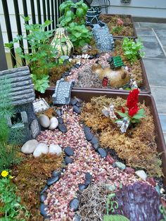 : : 26 Finest Succulent Yard Ideas Around The World My Fairy Garden, Gnome Garden, Garden Art, Garden Design, Fairy Gardens, Fairies Garden, Mini Gardens, Miniature Gardens, Small Gardens