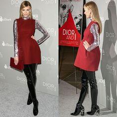 "Pregnant Jaime King Dons Kinky Dior Latex Thigh-High Boots at ""Dior & I"" Premiere"