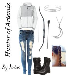 """Hunter of Artemis Outfit"" by janine1314 on Polyvore featuring Allurez, Gerard Yosca, The North Face and UGG Australia"