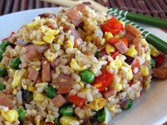 spam fried rice.....OMG....DOug used to make this and we ate it and it was good:)