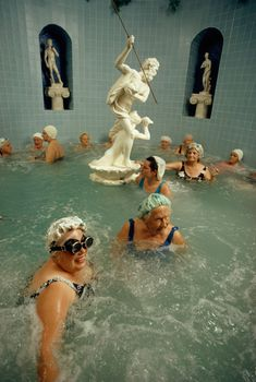 Women enjoy the benefits of a heated whirlpool in Saint Petersburg, Florida, 1973.Photograph by Jonathan Blair, National Geographic