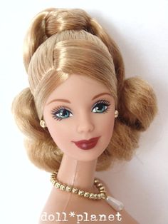 Tanned Mackie face BARBIE DOLL Nude Elegant Updo Jewelry Collectible for display SOLD