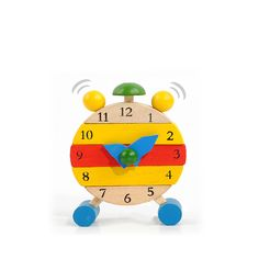 f5599ddf7 Baby Wooden Learn Time Clock Educational Developmental Disassembly Toy  Educational Toys For Toddlers, Kids Toys