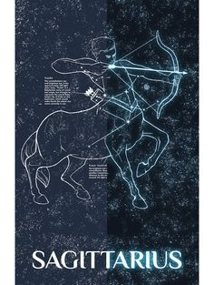 This depiction of the constellation Sagittarius is part of Inked and Screened's series of Celestial Bodies. These hand drawn designs encompass a wide range of astronomical phenomena within our visible Zodiac Art, Zodiac Signs, Aries Constellation Tattoo, Sagittarius Astrology, Tarot, Zodiac Constellations, Cosmos, Science, Mandala