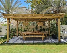 Rustic yet contemporary, a well-designed pergola works great to create a natural ambiance.