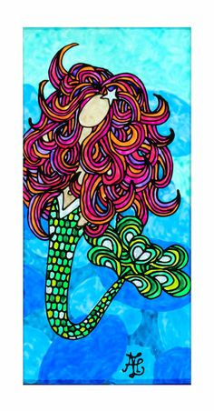 Hey, I found this really awesome Etsy listing at https://www.etsy.com/listing/223773217/mermaid-glass-painting