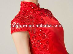 new style lace Chinese traditional wedding dress red TM327 qipao wedding dress, View qipao wedding dress, Couture qipao wedding dress Product Details from Suzhou Couture Wedding Dress Design Co., Ltd. on Alibaba.com