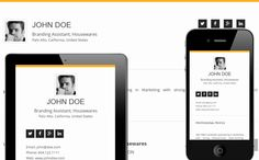 Elegant Yellow - Mobile friendly online Resume by Cloud CV