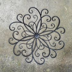 Large Metal Wall Art Wrought Iron Decor Scrolled