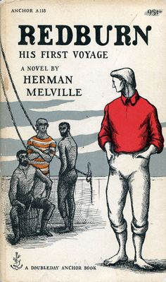 'Redburn: His First Voyage' by Herman Melville (Doubleday, 1957) Edward Gorey Illustration.