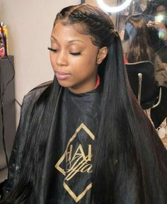 Full Lace Wigs For Black Women Brazilian Silk Straight Human Hair Wigs Swiss Lace Wig with Baby Hair Wig Hairstyles, Straight Hairstyles, Frontal Hairstyles, College Hairstyles, Protective Hairstyles, Haircuts, Curly Hair Styles, Natural Hair Styles, Natural Face
