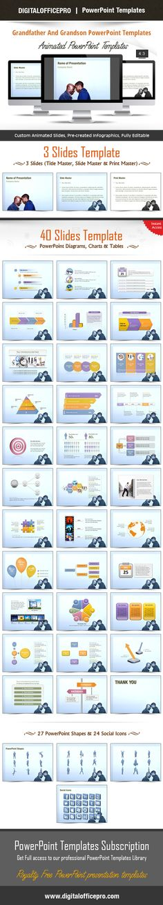 Impress and Engage your audience with Grandfather And Grandson PowerPoint Template and Grandfather And Grandson PowerPoint Backgrounds from DigitalOfficePro. Each template comes with a set of PowerPoint Diagrams, Charts & Shapes and are available for instant download.