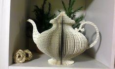 Buchseite Teekanne & Tasse Hochzeit Herzstück von KaisKreations