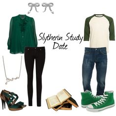 Slytherin Study Date, created by nearlysamantha on Polyvore