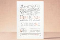 Rustic Charm Letterpress Wedding Invitations by Hooray Creative at minted.com