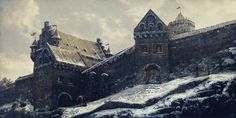 [Castle Gates, Vilius Petrauskas on ArtStation at https://www.artstation.com/artwork/castle-gates-6a246f94-977a-40de-ba5d-715e8bae241d]