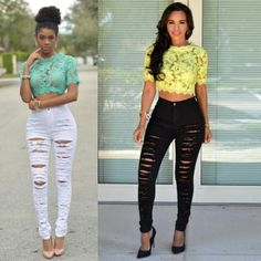 2016 New Women's Ripped Jeans Pants Destructed Boyfriend Jeans Loose Ripped Jeans Cool Jeans