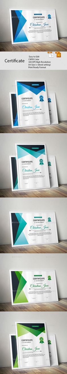 Certificate A GREAT CREATIVE CERTIFICATE TEMPLATE FOR CREATIVE PERSON. FEATURES:      Easy to Edit     CMYK Color     300 DPI High Resolution     A4 Size (+ bleed setting)     Print Ready Format     Free Fonts      FILES INCLUDES:     12 Ai & EPS files     read me.pdf      FONTS USED: