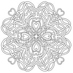 Hand-drawn the old-fashioned way, with compass and pencil, Celtic knotted, inked, and scanned to become a coloring book digital image you can print